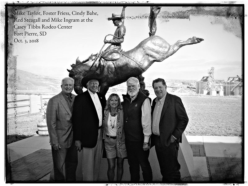 Red Steagall and group with Cindy frame bw for web